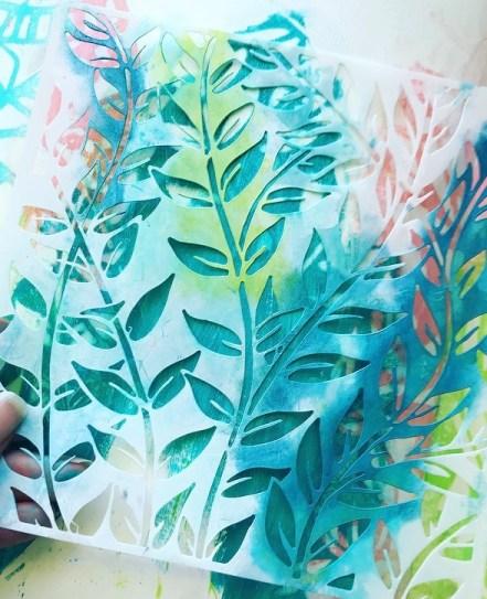 leaf stencil