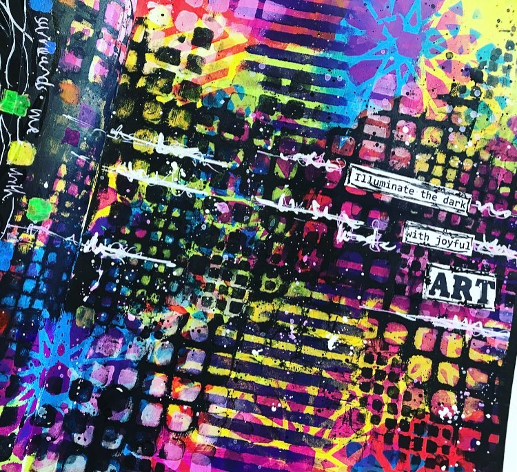 close up of background. grungy colorful page