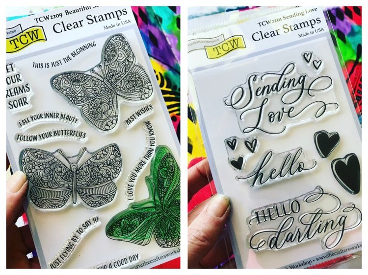two new clear stamps