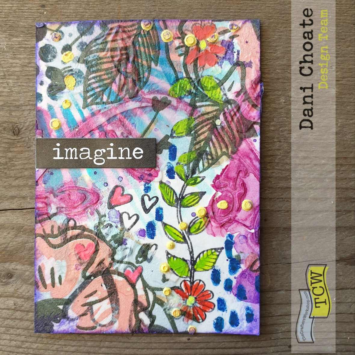 Artist Trading Card - IMAGINE