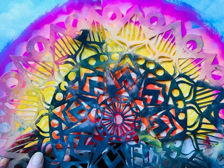 The Crafters Workshop Striped Mandala stencil