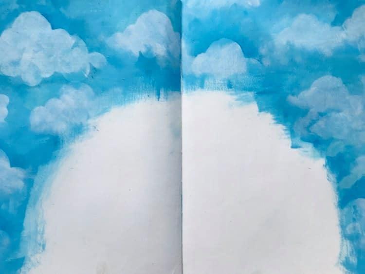 a sky art journal background