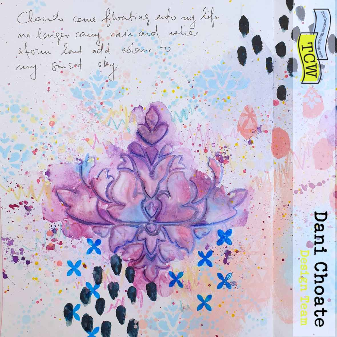 Clouds - Art Journal Page TCW794 - Damask Decor