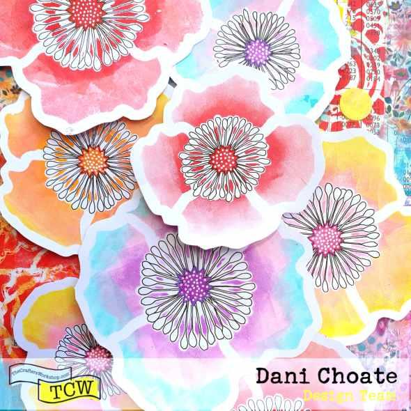 TCW601 Poppy Field embellishments