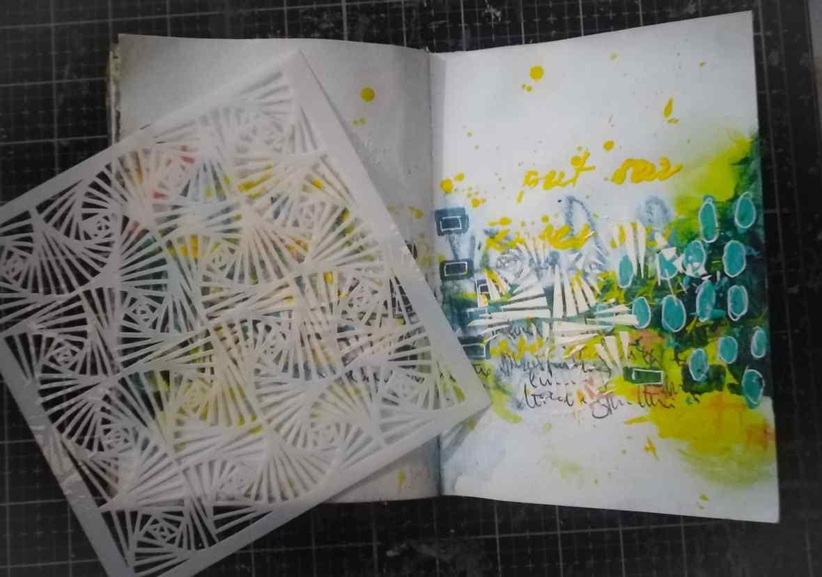 Background texture of art journal spread