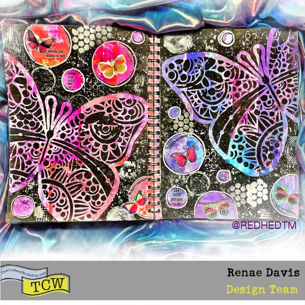 Flutter On By Art Journal: Zero Waste Painted Scraps by Renae Davis