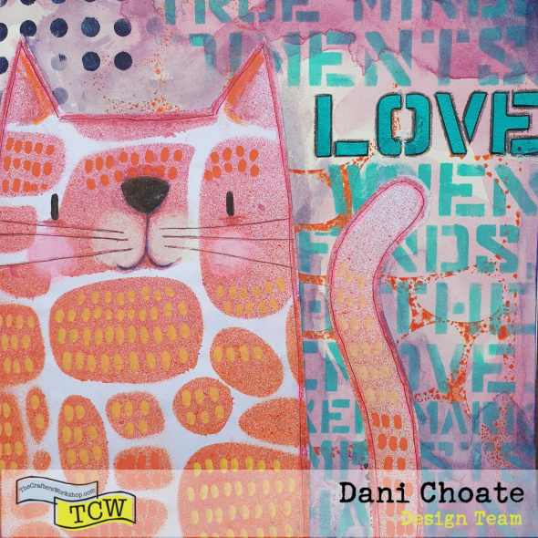 Stencil Cats - Love Cats YCW834 Stone Increase
