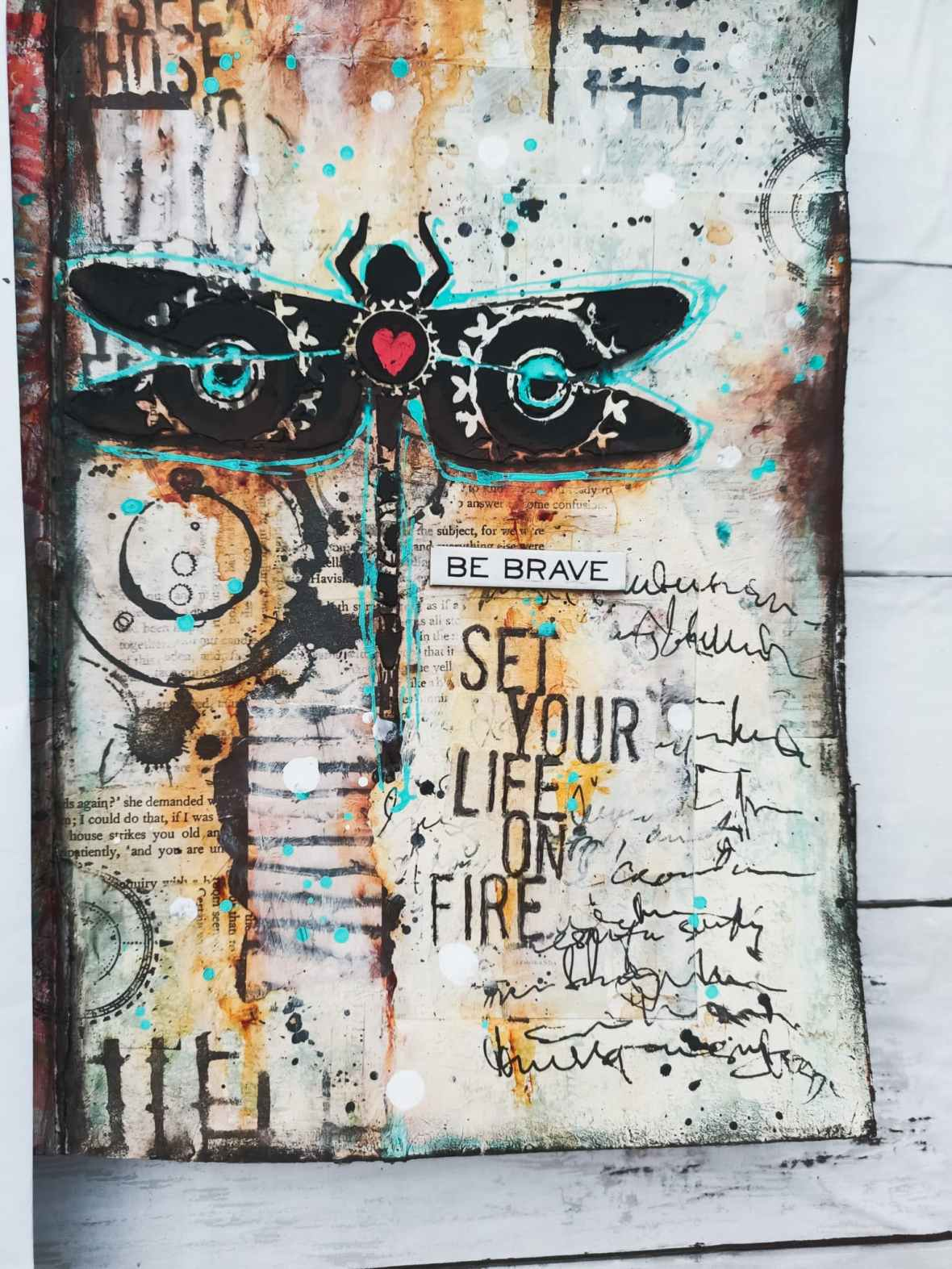 Mix media journal page