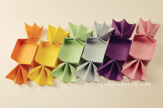 Origami candy box tutorial from Paper Kawaii