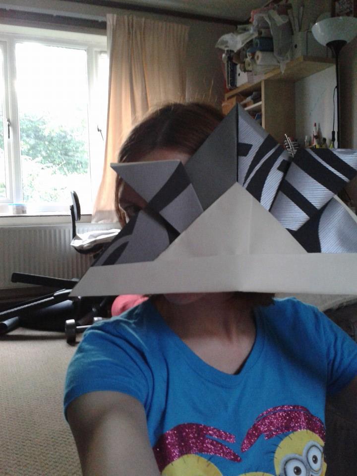 Large origami Samurai helmet