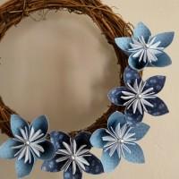Winter blues wreath