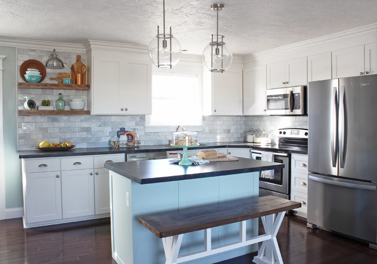 White Kitchen Remodel - The Craft Patch on Kitchen Remodel Ideas  id=90422