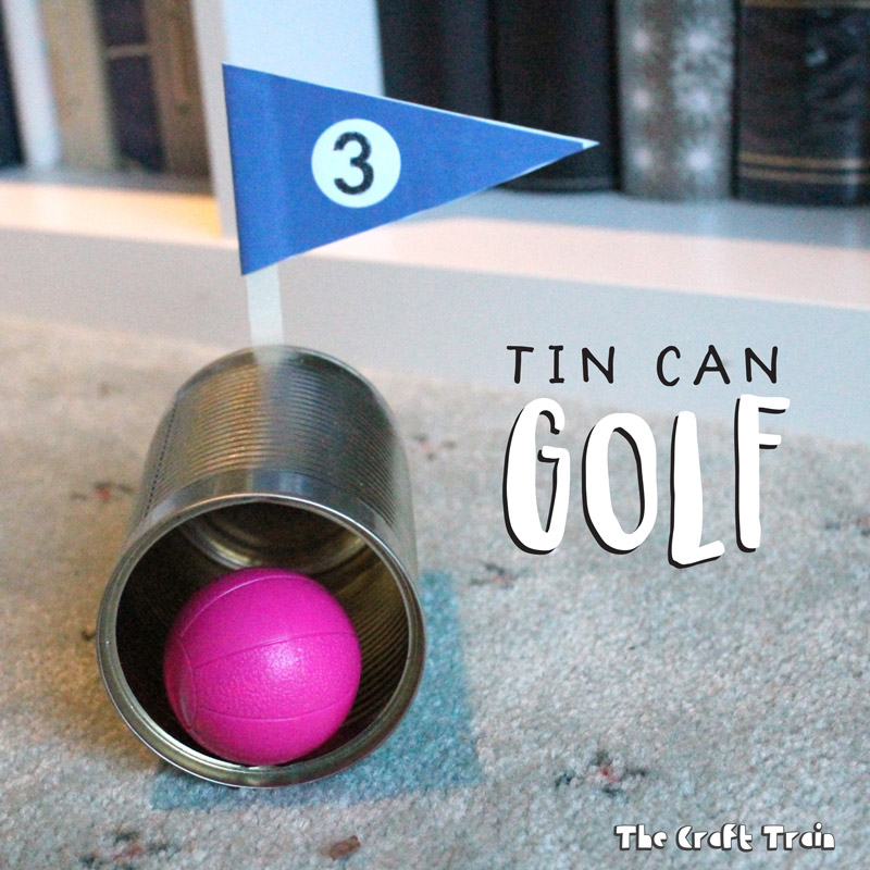 Tin Can Golf game from recycled junk