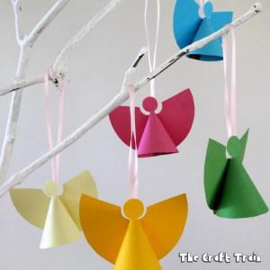 mini paper angel ornament