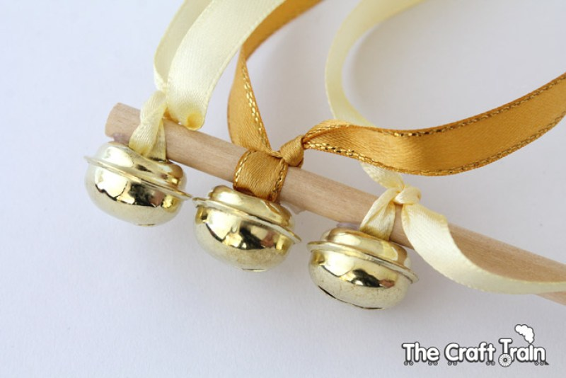 Gold dancing ribbons - tying the knots
