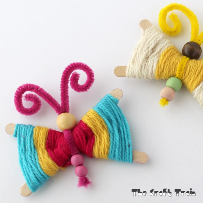 Woven Craft Stick Butterflies
