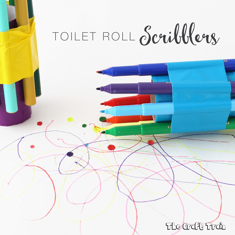 toilet paper roll art activity for kids