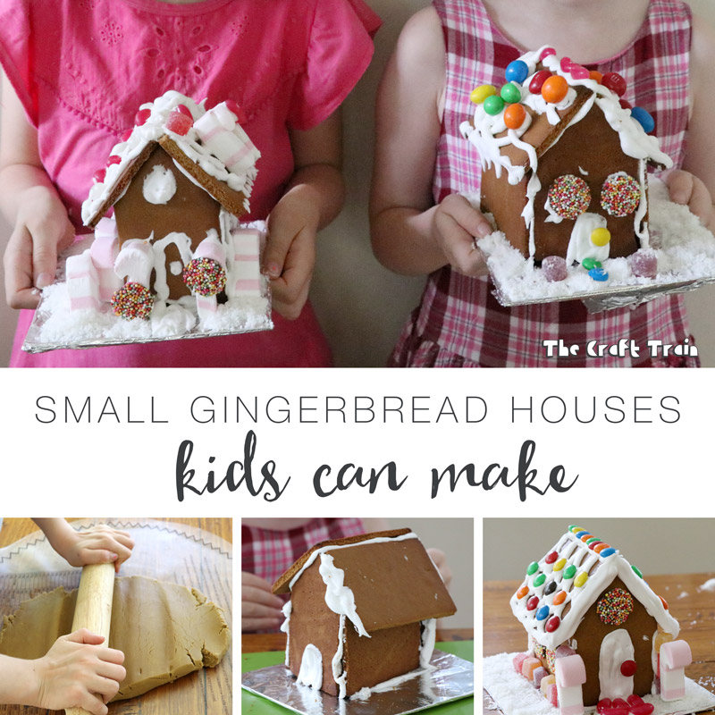 small gingerbread houses that kids can make