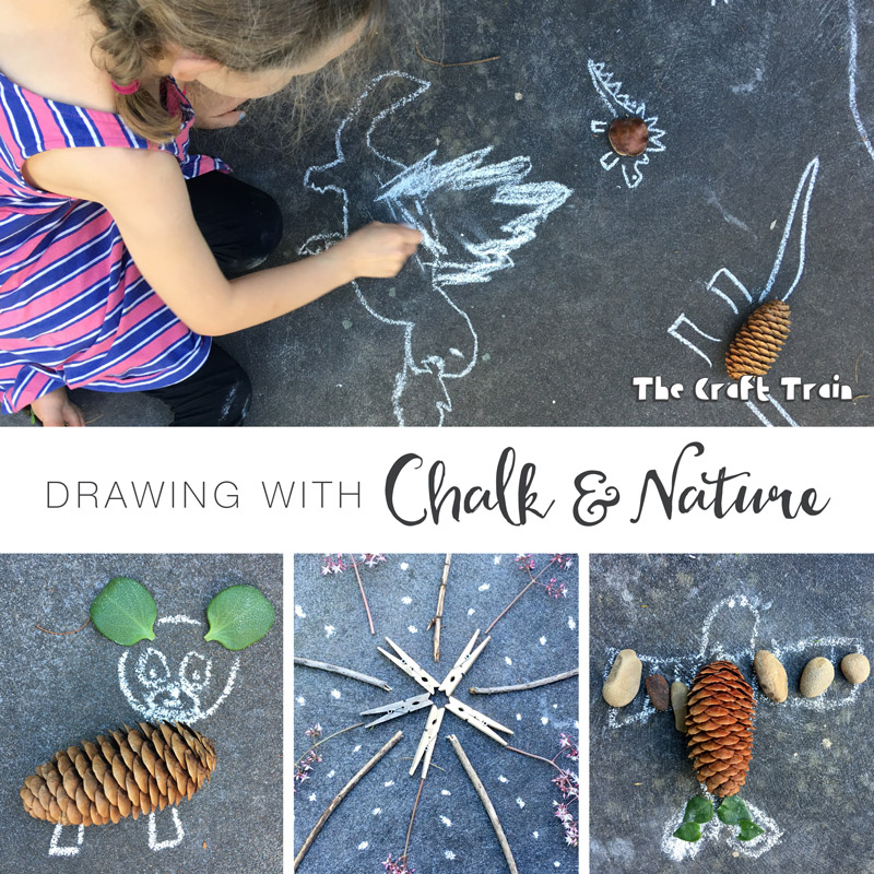 Create gorgeous open-ended process art with chalk drawing and nature