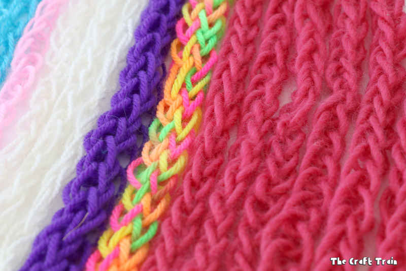 Finger knitting makes a great craft for kids