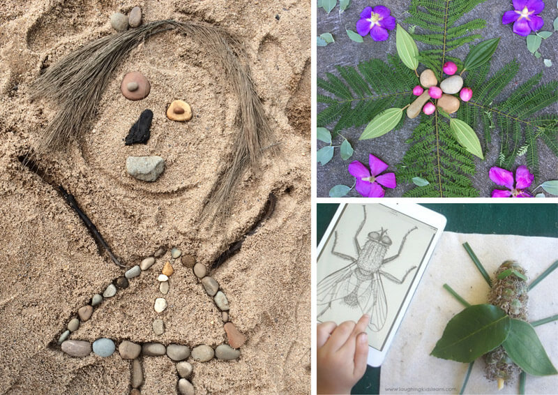 21 beautiful and inspiring ways for kids to create art using nature