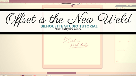 Why I don't Weld my script fonts in Silhouette Studio