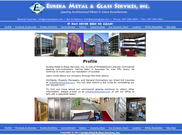 Eureka Metal & Glass Services Website | The Crafty Canvas ...