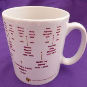 Family Tree Mug 5 generations