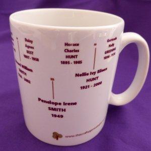 Family Tree Mug 4 generations