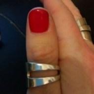 Silver Cake Fork Ring