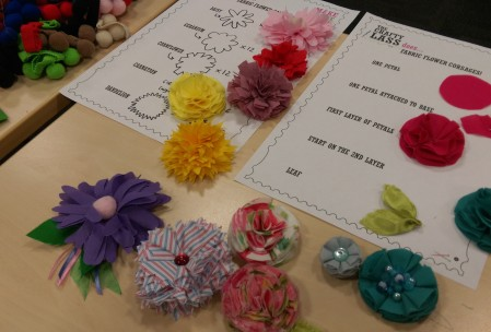 Fabric Flower Corsage Workshop