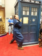 Jack, there really are better ways to hitch a ride on the TARDIS...
