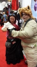 Haha, an unfortunate camera angle - I swear Barf wasn't grabbing my chest!