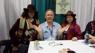 And three Doctors. (Yes, that is Peter Davison!)