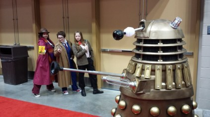 Doctors, trying to handle a Dalek.