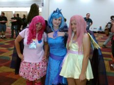 Pinkie Pie with Princess Luna and Fluttershy!