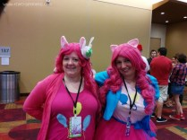 Pinkie Pies! (And a parasprite.)