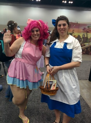 Pinkie Pie and Belle! I found them working at the same booth together, heehee.