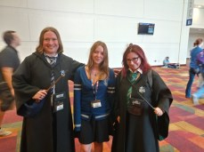 A couple of Hogwarts students, ready for adventure.