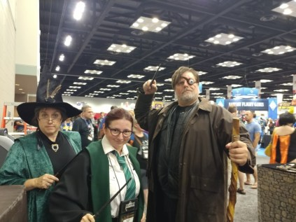 Professor McGonagall and Mad Eye Moody. Thankfully, neither of them chided me for skipping classes. :P