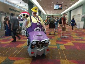 This Wario costume, complete with cart, was one of the coolest costumes I saw at Gen Con.
