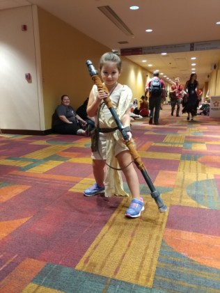 A tiny Rey! Now, if only I'd seen a Poe...
