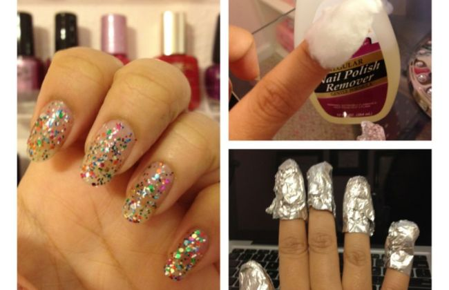 How to remover glitter nail polish