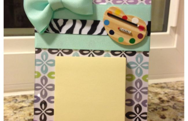 DIY Sticky Note Holder