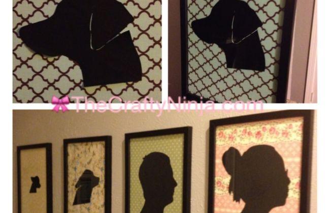 DIY silhouette portraits