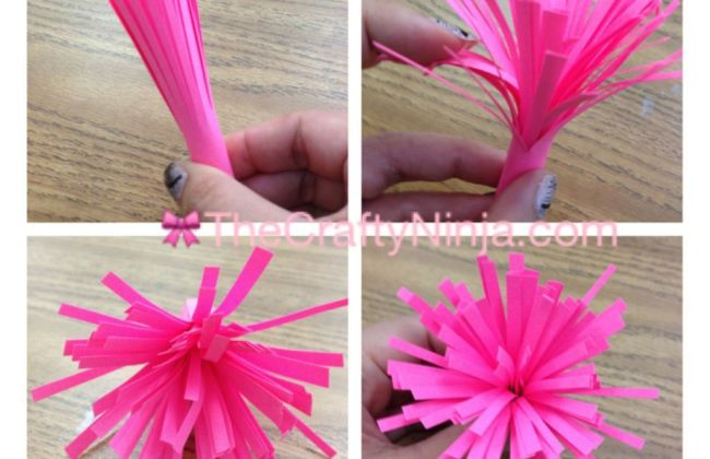 DIY Paper Flower Fringe Step 3