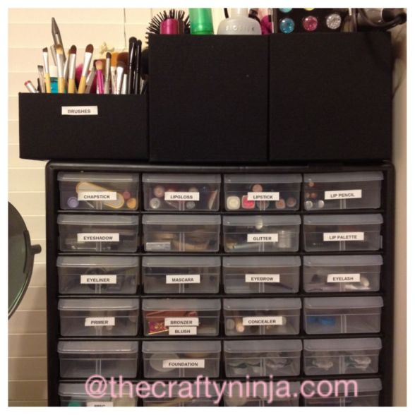 Makeup Storage Shelf Container