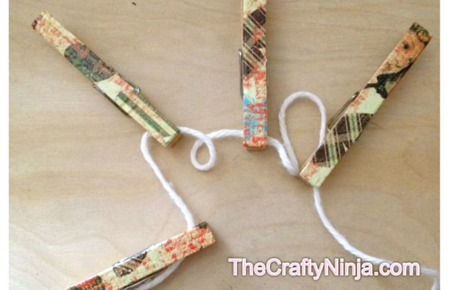 Scrapbook paper mod podge clothepins