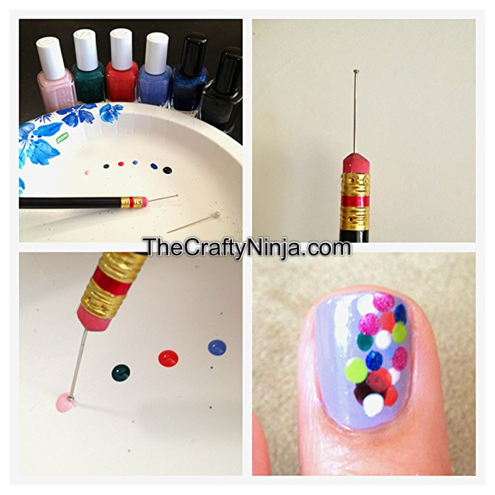 rainbow sprinkle nails