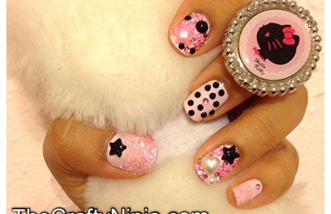 kawaii deco nails